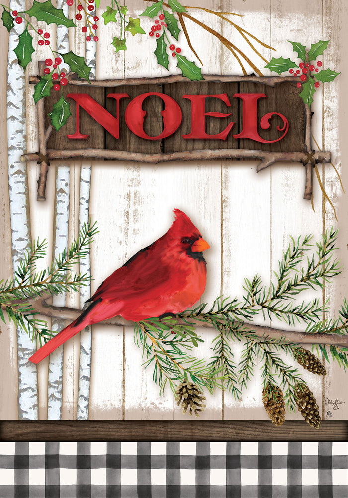 Cardinal Noel Decorative Garden Flag