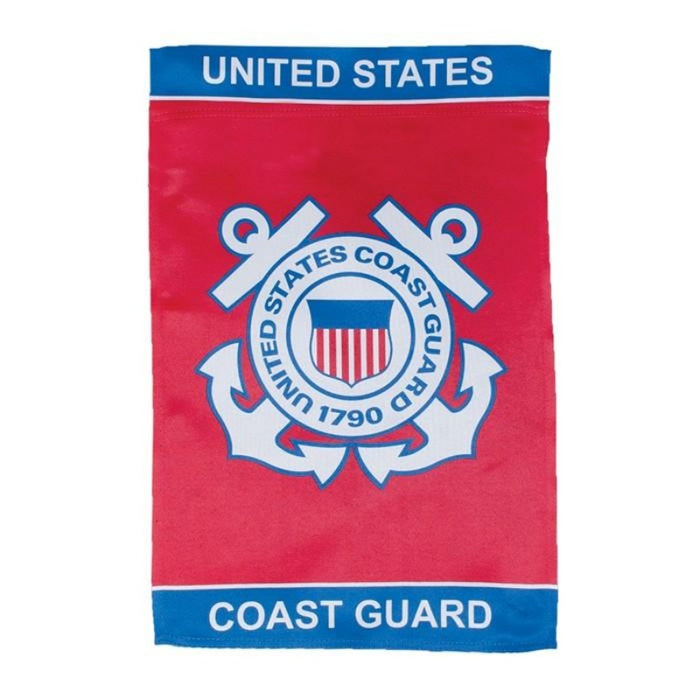 U.S. COAST GUARD LUSTRE GARDEN FLAG