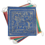 flag string with the golden wind horse and tibetan text
