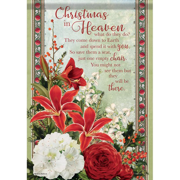 CHRISTMAS IN HEAVEN GARDEN FLAG