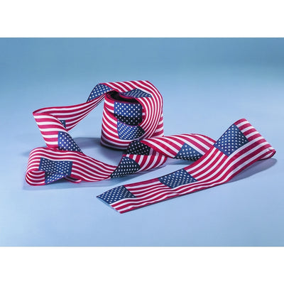 "4""x21' Polyester US Flag Roll Bunting"