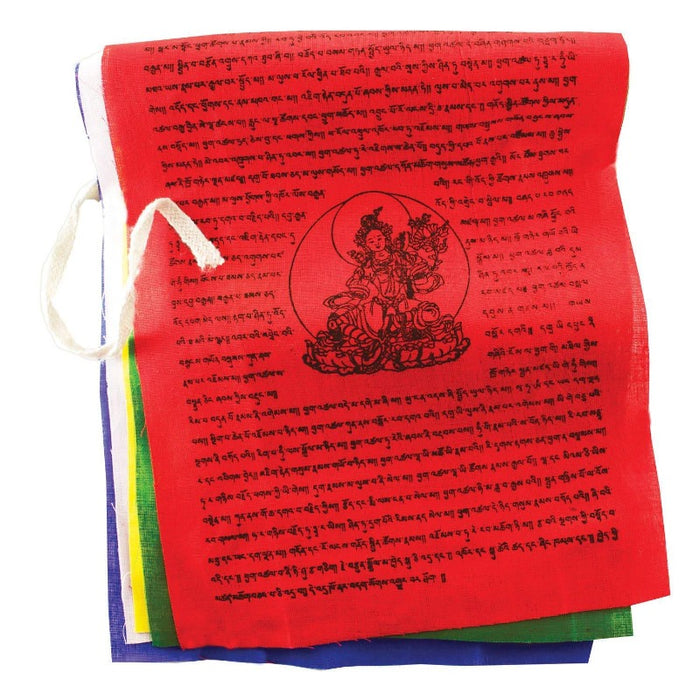 FLAG WITH GOD IN THE CENTER AND TIBETAN WRITING