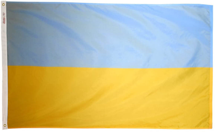 UKRAINE INDOOR FLAG - NO FRINGE