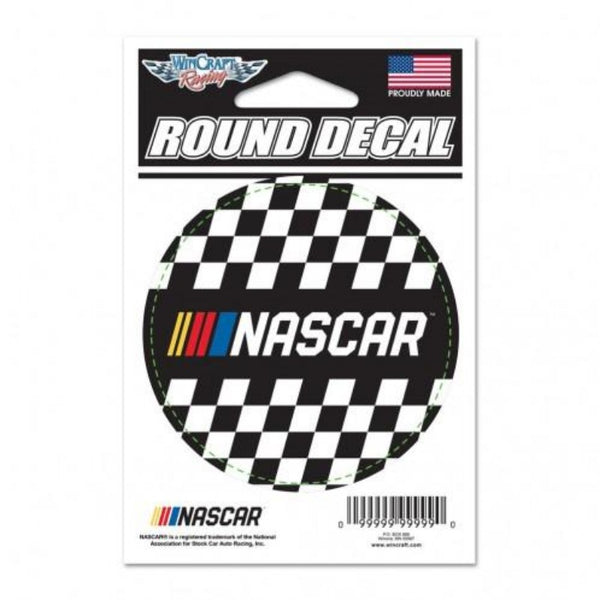 NASCAR LOGO ROUND DECAL
