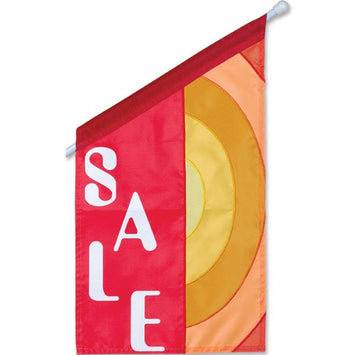 THE SALE IS ON APPLIQUE GARDEN FLAG
