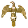 brass plated eagle topper