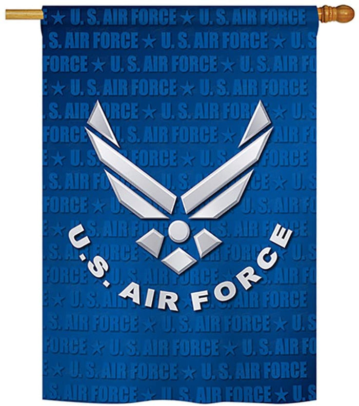US AIR FORCE WINGS DECORATIVE FLAG