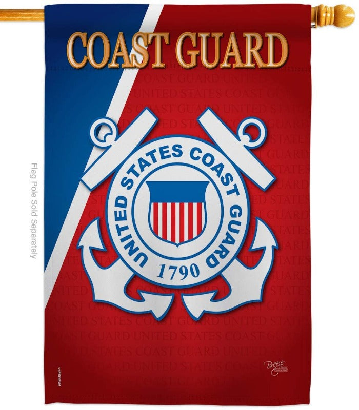 US COAST GUARD BANNER FLAG