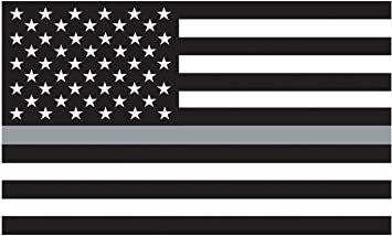 3X5' Thin Grey Line Polyester Flag