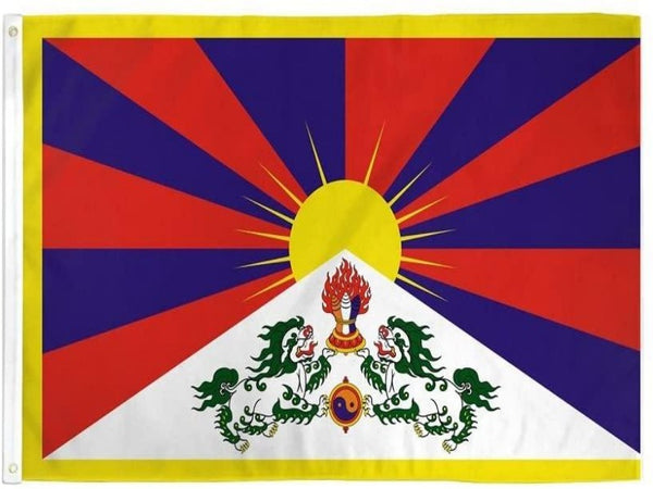 3X5 FT TIBET POLYESTER FLAG