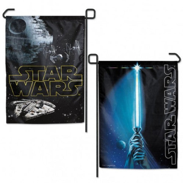 DISNEY STAR WARS 2-SIDED LIGHT SABER GARDEN FLAG