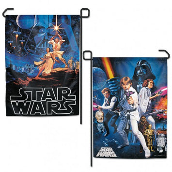DISNEY STAR WARS 2-SIDED EPISODES 4-6 CHARACTERS GARDEN FLAG