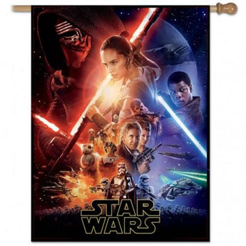 DISNEY STAR WARS EPSODES 7-9 POSTER COLLAGE BANNER