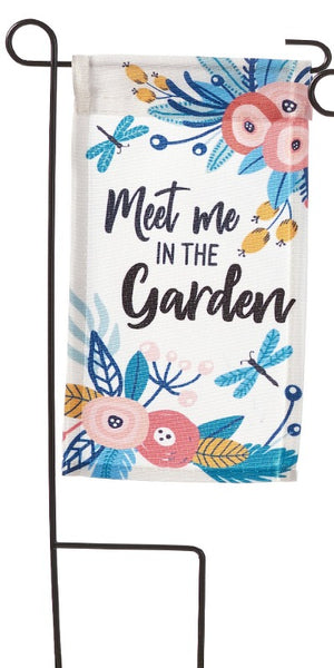 meet me in the garden mini flag