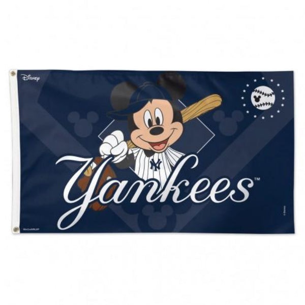 Yankees Mickey Mouse Flag Baseball