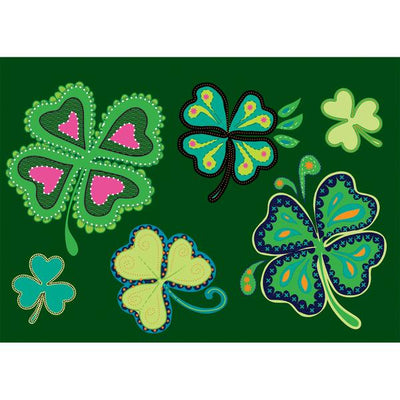 "40"" Lucky Shamrocks Applique Windsock"