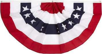 3x6 FT NYLON PLEATED FAN WITH STARS