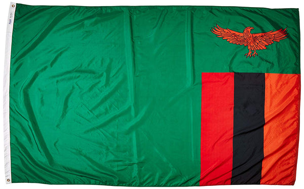 Zambia Nylon Flag