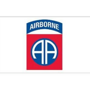 white background 82nd airborne decal