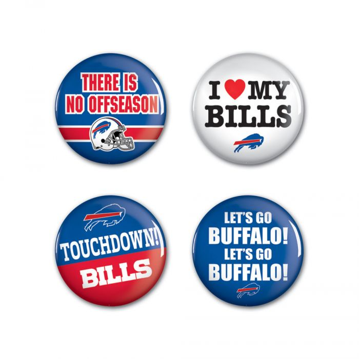 Buffalo Bills Round Button 4 Pack