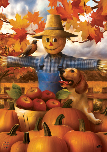 AUTUMN SCARECROW DECORATIVE FLAG