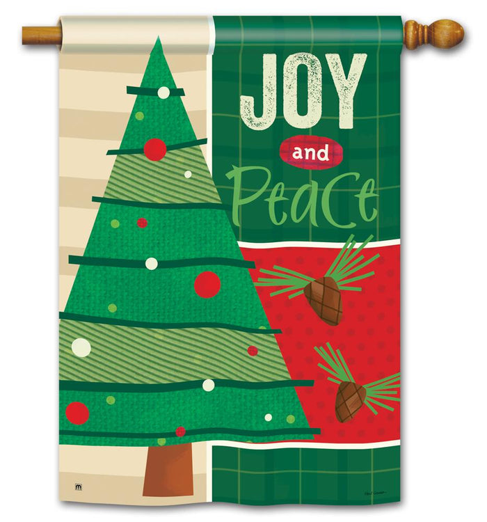 JOY AND PEACE BANNER FLAG