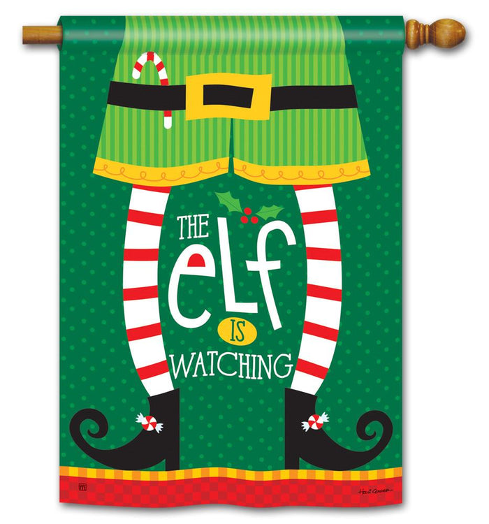 ELF IS WATCHING BANNER FLAG