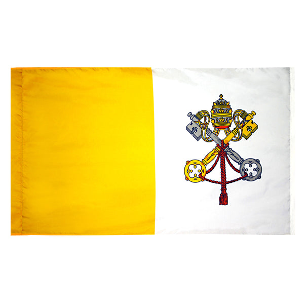 Papal Indoor Flag - No Fringe