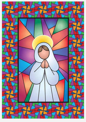 Angel Stained Glass Decorative Flag