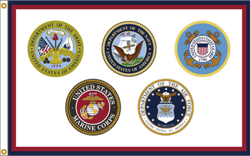 ARMED FORCES FLAG ALL MILITARY BRANCHES