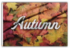 3x5' Autumn Leaves Polyester Flag