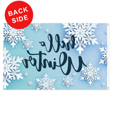 background picture snowflakes on light blue background winter welcome polyester flag for flagpole