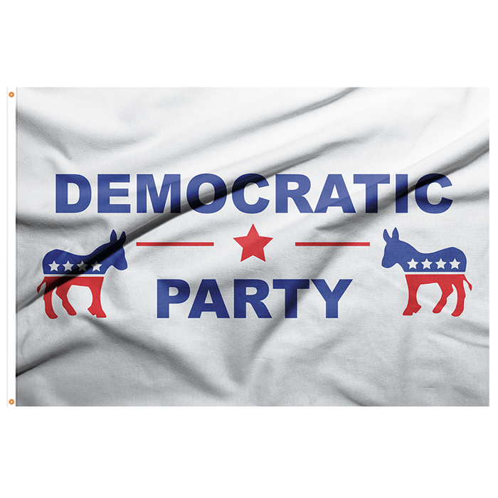 Democratic Party Flag - 3'x5' Polyester - Made in USA