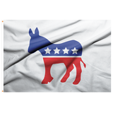 Democratic Symbol Flag - 3'x5' Polyester - Made in USA