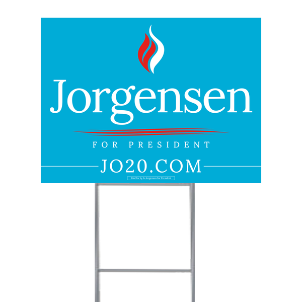 Jorgensen lawn sign