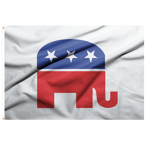 Republican Symbol Flag - 3'x5' Polyester - Made in USA