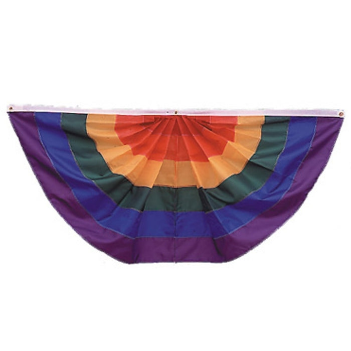 3X6 FT NYL-GLO RAINBOW FAN SEWN