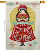 Christmas & Happy New Year Angel Decorative Flag