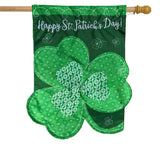 Shamrock Applique Banner Flag