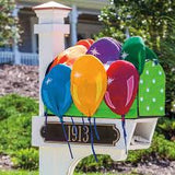 Balloons 3-D Applique Mailbox Cover