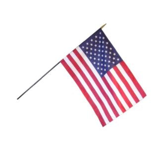 24x36 INCH CLASSROOM FLAG MOUNTED ON BLACK DOWEL
