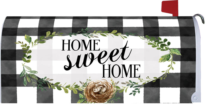 Gingham Home Mailbox Makeover