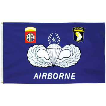 3'x5' POLYESTER AIRBORNE FLAG