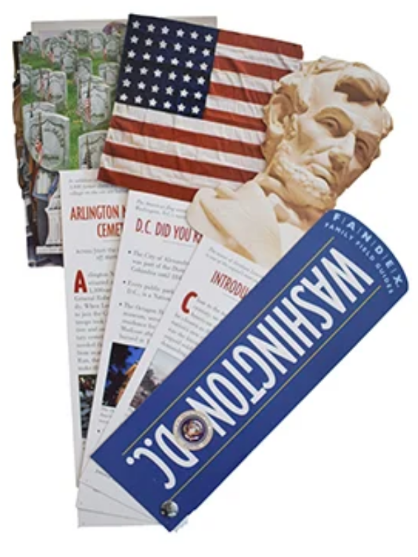 washington DC cards with various information on each of them