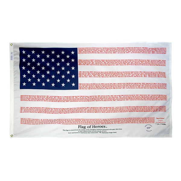 3'x5' Flag of Heroes Nylon Flag