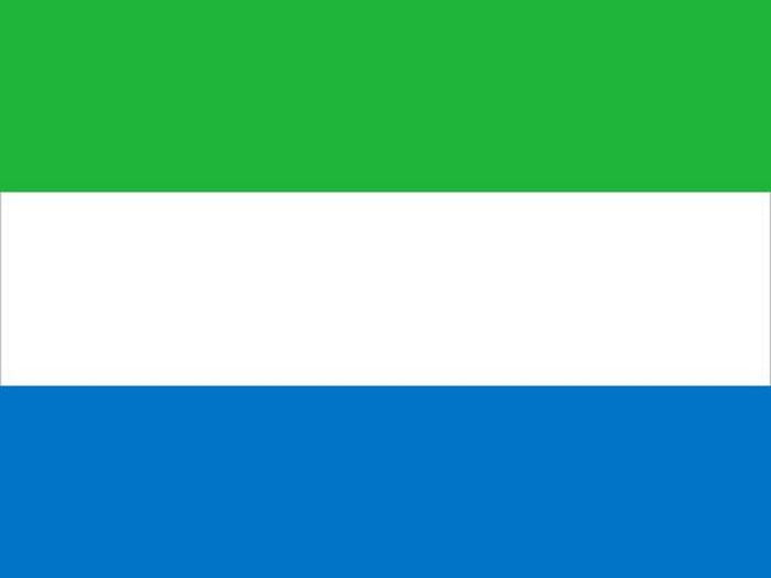 green, white, and blue horizontally striped flag
