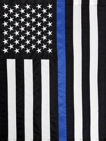 Thin Blue Line Embroidered Decorative Flags