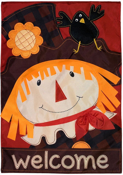 SCARECROW APPLIQUE DECORATIVE FLAGS