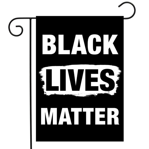 Black lives matter garden flag