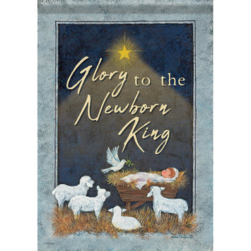 GLORY TO THE NEWBORN KING DOUBLE-SIDED BANNER